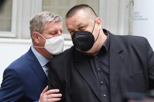 Minister zdravotníctva Vladimír Lengvarský a hlavný hygienik Ján Mikas počas tlačovej konferencie o aktuálnej epidemiologickej situácii a k novým opatreniam v súvislosti s ochorením COVID-19.