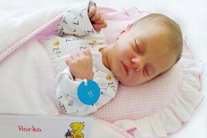 Hana Grolmusová z Kanianky sa narodila 5. 5. 2021 v Bojniciach