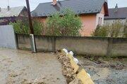 Záplavy pri Ďurkove.
