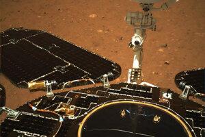 Čínsky rover Ču-žung na Marse.