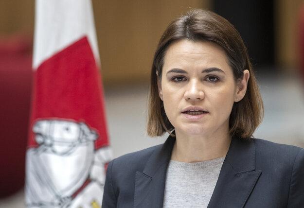 Líderka bieloruskej opozície Sviatlana Cichanovská.