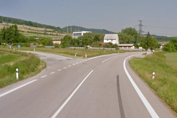 Križovatka, kde sa stala nehoda. Podľa Jakuba Kurtyho je to jeden z najnebezpečnejších úsekov.