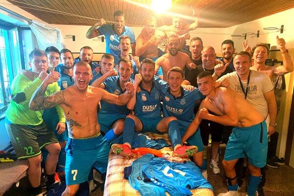 Futbalisti Šale sa dnes radovali z víťazstva na ihrisku Myjavy.