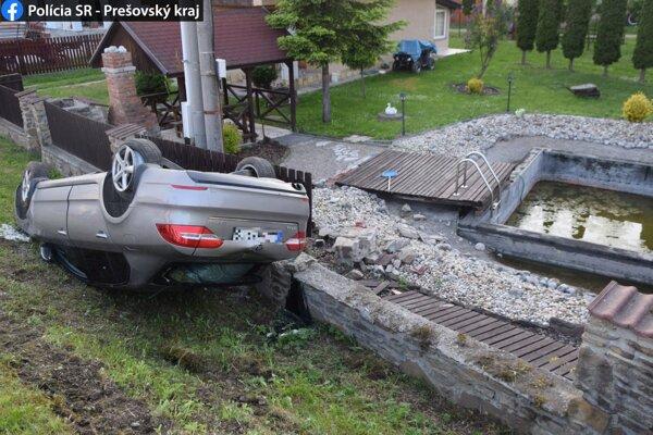 Dychová skúška u vodiča po nehode ukázala 1,48 promile.