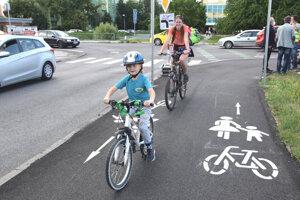 Otvorenie prvej časti cyklochodníka.