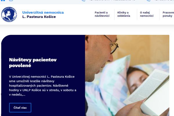 Nový web košickej nemocnice prichádza po týždňoch ochromenia.