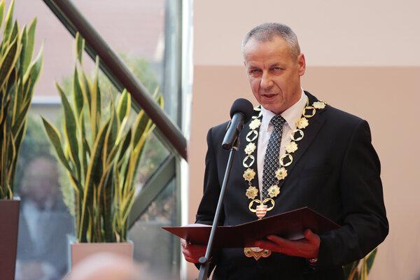 Ján Nosko - odovzdávanie Ceny primátora.