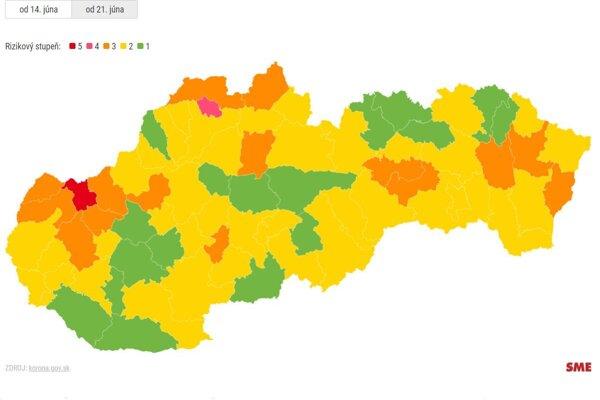 Situácia na Slovensku od 21. júna.