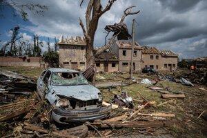 Situácia v mestečku Mikulčice na Južnej Morave po silnej búrke a tornáde vo štvrtok 24. júna 2021.