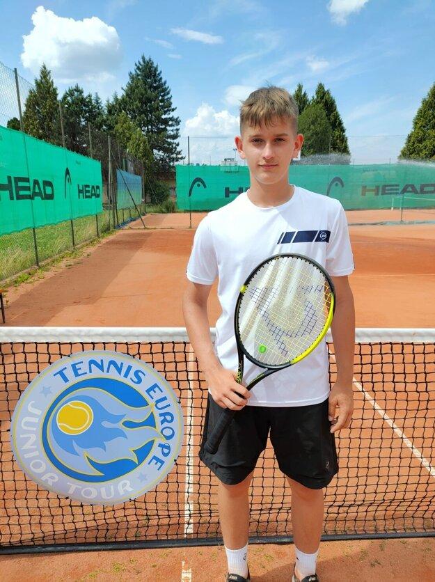 Martin Bobošík sa zúčastnil svojho prvého medzinárodného turnaja vkategórii do 12 rokov.