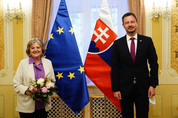 Premiér Eduard Heger (OĽANO) sa stretol s eurokomisárkou pre súdržnosť a reformy Elisou Ferreirovou.