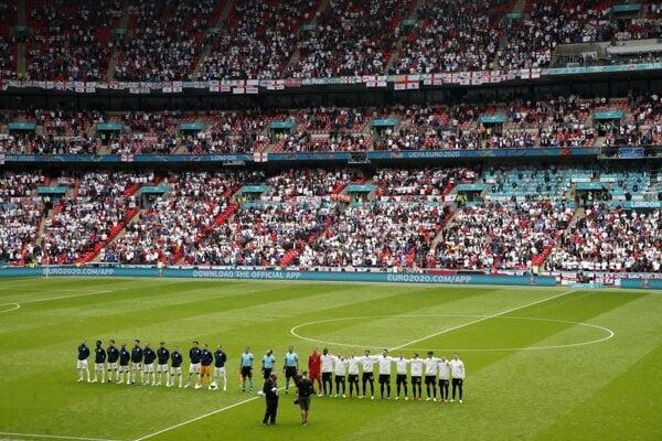 Pred zápasom Anglicko - Nemecko na ME vo futbale (EURO 2020 / 2021).