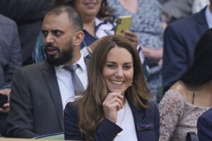 Kate sa naposledy na verejnosti objavila v piatok, keď navštívila tenisový turnaj vo Wimbledone.