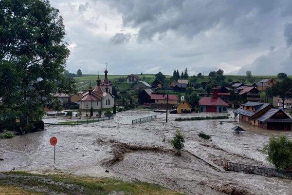 Záplavy v Jarabine.