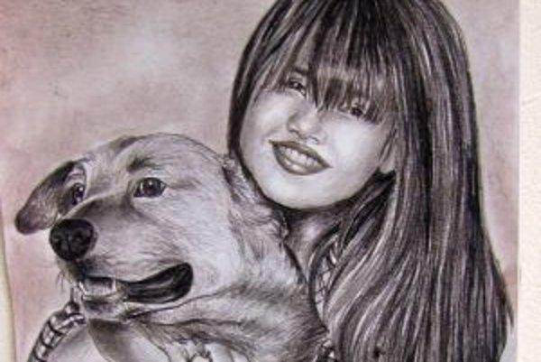 Jeden z portrétov Lýdie Lenčéšovej.