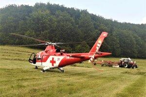 Zásah leteckých záchranárov vo Valaskej Belej.
