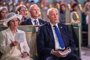 Nórsky kráľ Harald a kráľovná Sonja.