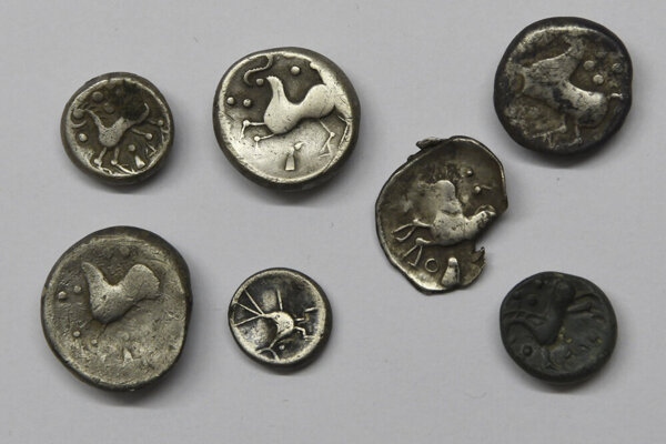 Keltské mince, nájdené v Jánovciach už v minulosti.