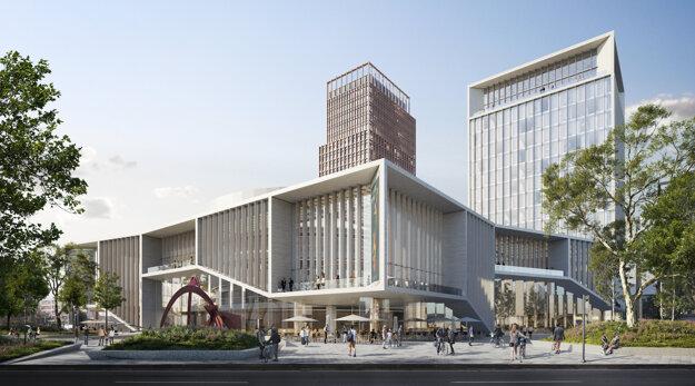 Architektonický návrh Nového Istropolisu sa otvára návštevníkom zo všetkých strán.