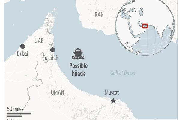 Loď v Ománskom zálive sa pravdepodobne stala v utorok 3. augusta 2021 terčom únosu.