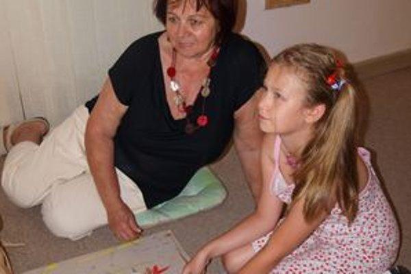 Vlani sa Prázdninového maľovania zúčastnila aj Natália Žifčáková z Cypru, ktorá prázdninovala u svojej babky v Nitre.