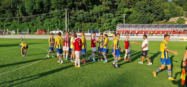 Z pohárového zápasu medzi Poltárom a FTC