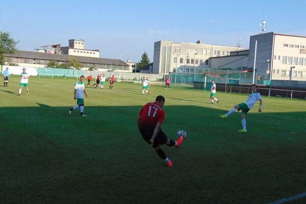 Momentka zo zápasu Pobedim - Vrbovce.