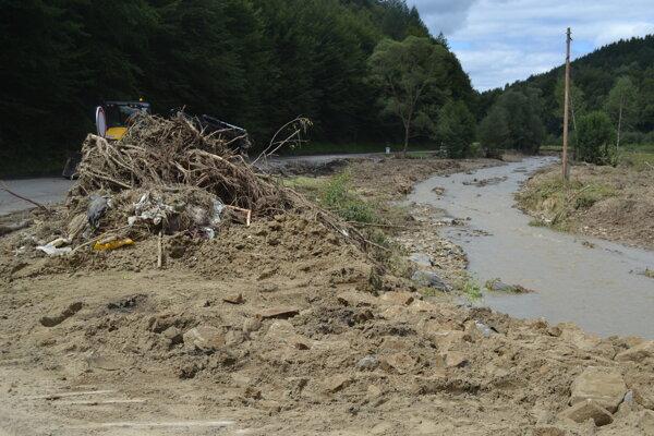 Po augustových záplavách v Bardejovskom okrese.