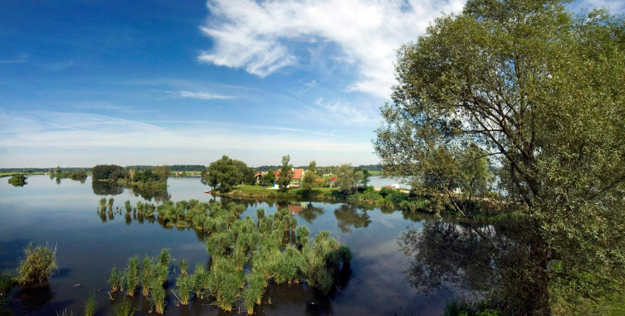 Adamovské jazerá, rekreačná lokalita s možnosťou kúpania, pestovania vodných športov a rybárčenia pri západe slnka, Gbely