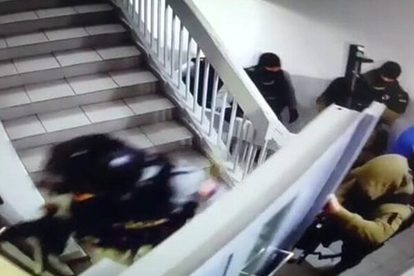 Zásah policajtov v Pentagone.