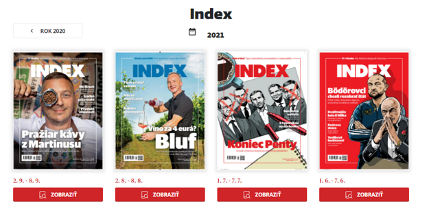 Mesačník INDEX v PDF verzii