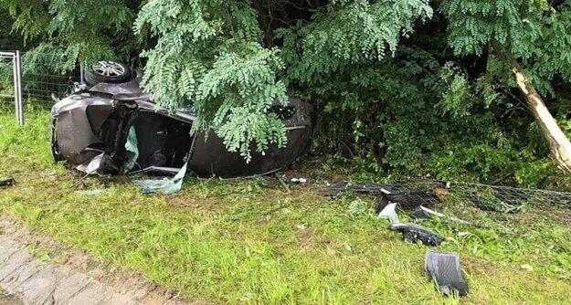 Takto dopadol Hyundai po nehode pri Zelenom dvore.