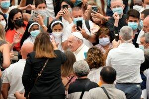 Pápež František vo Vatikáne. (Ilustračná foto)