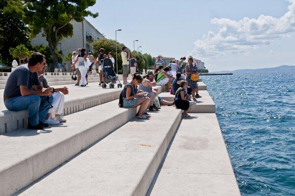 Pobrežie v chorvátskom meste Zadar.