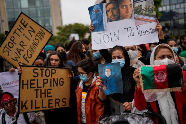 Afganci v Bruseli upozorňujú na dianie vo svojej vlasti.