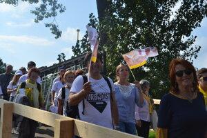 Ľudia odchádzali z Prešova nadšení a s úsmevmi.