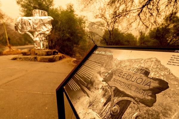 Národný park Sequoia počas požiarov.