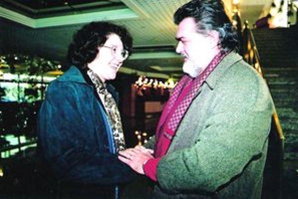 Lucia Takáčová so slovenským tenoristom Petrom Dvorským.