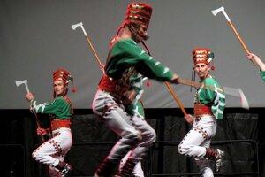 Jedným zvrcholov osláv bolo aj vystúpenie SĽUK-u.
