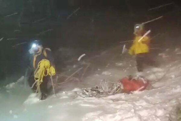 Záchranná operácia na Elbruse.