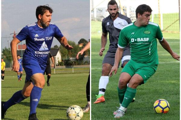 Hrajúci tréneri vľavo Marek Kostoláni (Klasov) a vpravo Peter Peciar (D. Obdokovce) sú odchovancami FC Nitra. Ligu hral pod Zoborom iba prvý menovaný, skúseností však majú na rozdávanie obaja.