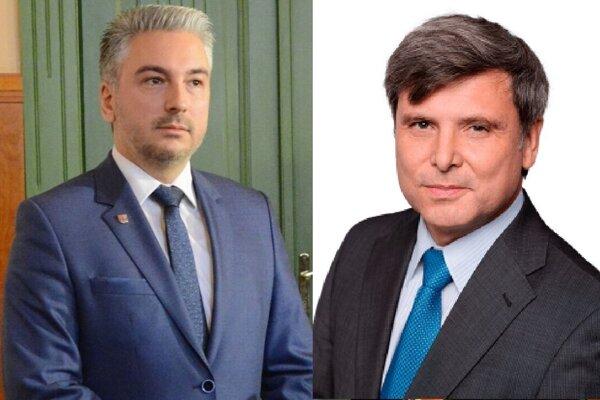 Župan Trnka (vľavo) podal na etickú radu podnet voči členovi komisie cestovného ruchu Vladimírovi Semanovi (vpravo).