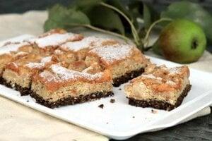 Fit mandľový koláč s hruškami