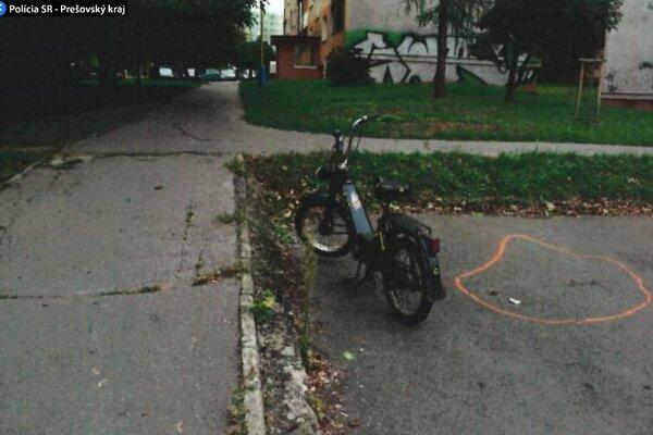 Šofér mopedu poriadne nafúkal.