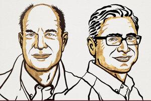 Americký fyziológ David Julius (vľavo) a arménsko-americký molekulárny biológ Ardem Patapoutian (vpravo).