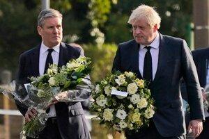 Šéf labouristov Keir Starmer a britský premiér Boris Johnson.