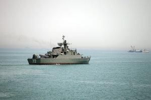 Vojnová loď Alborz.