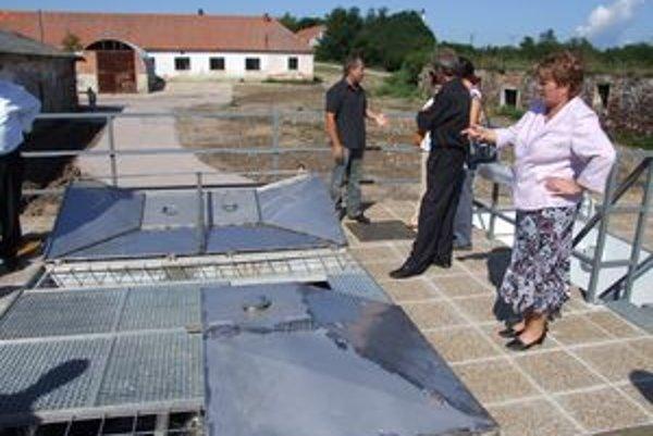 Čistiareň v Olichove, ktorá patrí zariadeniu v správe nitrianskej župy.