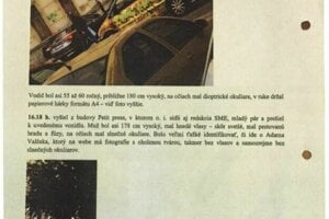 Ukážka záznamu zo sledovania reportéra denníka SME Adama Valčeka.