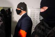 Na snímke obžalovaný Peter Gašparovič počas príchodu na pojednávanie